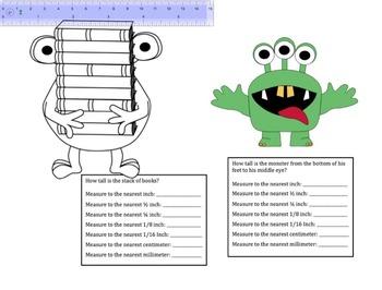 Monster Measurement: Smartboard Activity