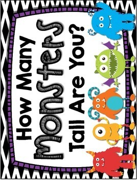Halloween Measuring -- How Many Monsters Tall Are You? Halloween Math Center