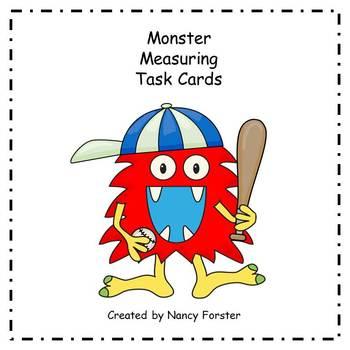 Monster Measurement Task Cards