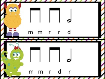 Monster Melody Madness: a collection of activities for teaching re