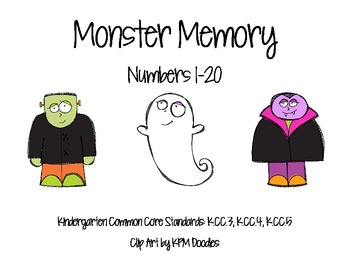 Monster Memory Cards-Numbers 1-20