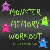 Monster Memory Workout - targeting auditory memory skills