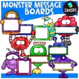 Monster Messages Clip Art Bundle {Educlips Clipart}