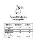 Monster Metric Stations Recording Sheet