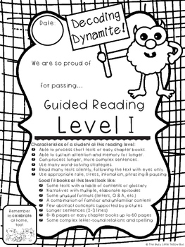 Monster Milestones in Guided Reading! Adorable Reading Level Awards for A-Z
