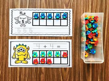 Monster Mini Eraser Activities