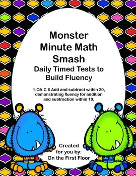 Monster Minute Math Smash-Daily Timed Tests to Build Addition Fluency