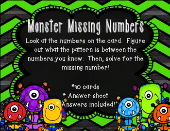 Monster Missing Numbers