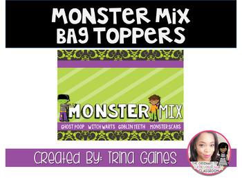 Monster Mix Halloween Bag Topper