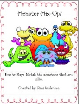 Monster Mix Up-Visual Discrimination
