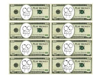 Monster Money: 10 Dollar Bills
