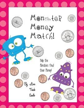 Monster Money Match Math Game-Center