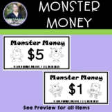 Monster Money  - Classroom Money Rewards System/Incentives