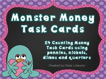 Monster Money Task Cards