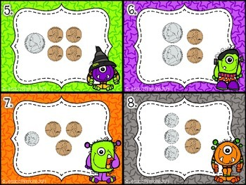 Halloween Task Cards: Monster Money
