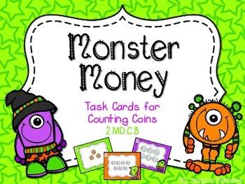 Halloween Task Cards: Monster Money