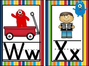 Monster, Monster Oh So Cute Alphabet Line