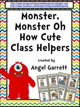 Monster, Monster Oh So Cute Class Jobs
