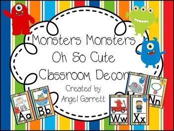 Monster, Monster Oh So Cute Classroom Decor