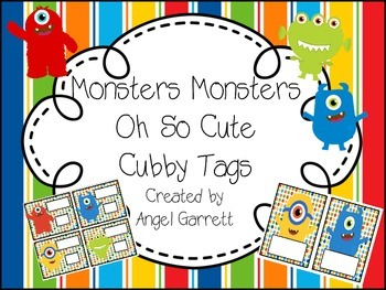 Monster, Monster Oh So Cute Cubbie Tags