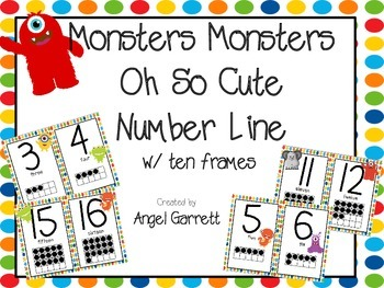 Monster, Monster, Oh So Cute  Number Line to 20 with Ten F