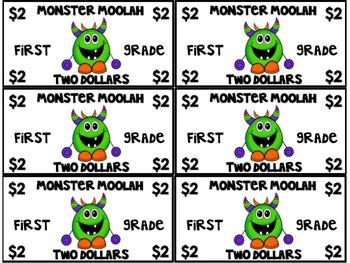 Monster Moolah:Classroom Money