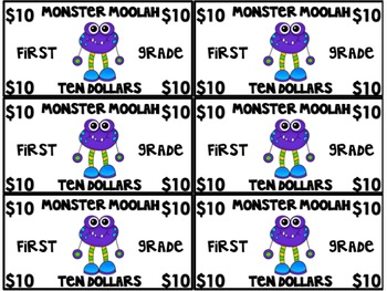 Monster Moolah:Classroom Money