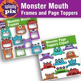 Monster Mouth Frames and Page Topper Bundle Clipart