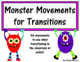 Monster Movement Transition Cards - Brain Breaks