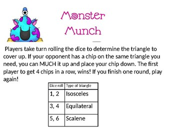 Monster Much Triangle connect 4 game