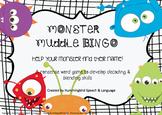 Monster Muddle Bingo - Nonsense words for decoding, blendi