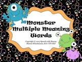 Monster Multiple Meaning Words