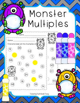 Multiplication Monster Multiples