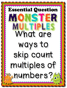 Monster Multiples Tiered Math Tub