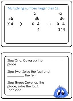 Monster Multiplication- 2 digit by 1 digit