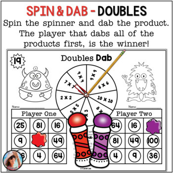 Multiplication Games ~ 25 Print and Play Bingo Dabber Games to 10 X 10