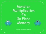 Monster Multiplication 4's Go Fish/ Memory