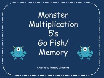 Monster Multiplication 5's Go Fish/ Memory