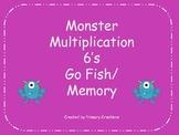 Monster Multiplication 6's Go Fish/ Memory