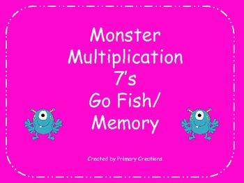Monster Multiplication 7's Go Fish/ Memory
