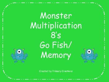 Monster Multiplication 8's Go Fish/ Memory
