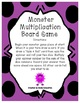 Monster Multiplication Activities for multiplying by 0, 1,