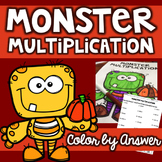 Monster Multiplication Color By Answer - Multiplying by 1 & 2 Digit Numbers