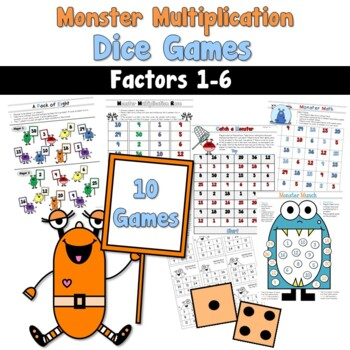 Monster Multiplication Dice Games