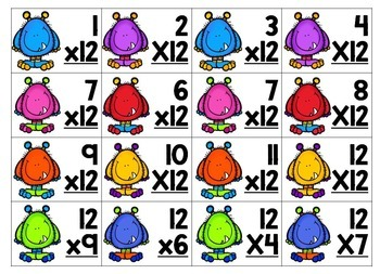 Differentiated Multiplication Math Center {Monster-themed} for 3rd & 4th Grade