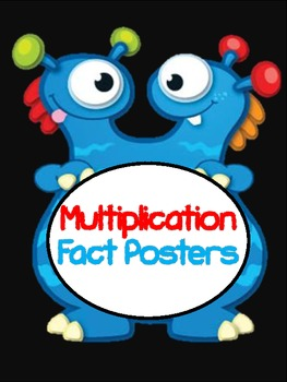 Monster Multiplication Fact Posters