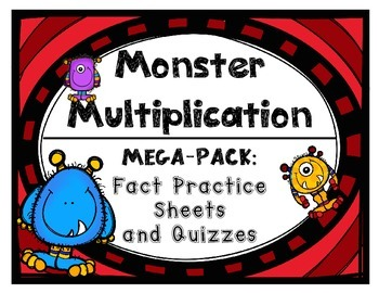 Multiplication Fact Practice Drills and Quizzes by Set wit