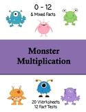 Monster Multiplication Worksheets & Fact Tests