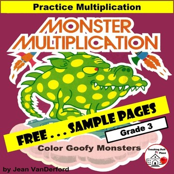 FREE... MATH | MONSTER MULTIPLICATION... FREE  |  Core 3-4 MATH