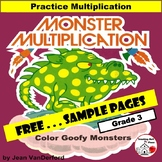 FREE... MATH | MONSTER MULTIPLICATION... FREE  |  Core 3-4 MATH